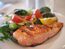 Salmon fillet with cherry tomatoes